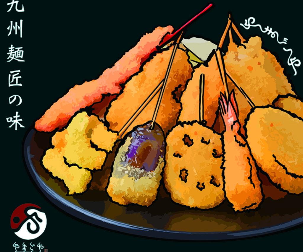 九州麺匠の味 やまごや吉田店 外看板